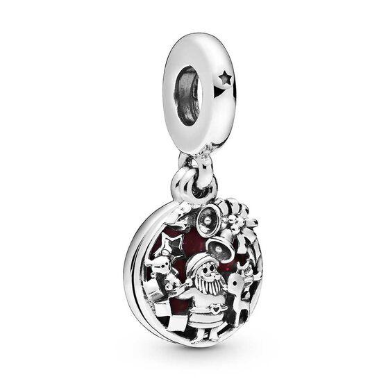 Pandora Santa Love Peace Joy Enamel & CZ Dangle Charm