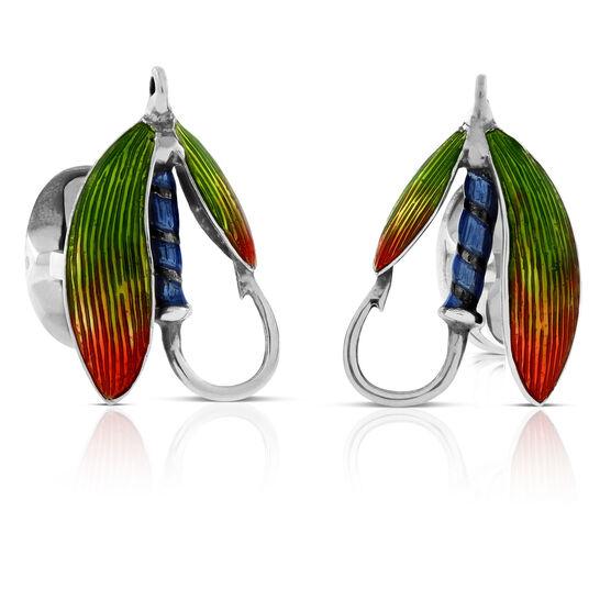 Deakin & Francis Fly Fishing Cufflinks in Sterling Silver