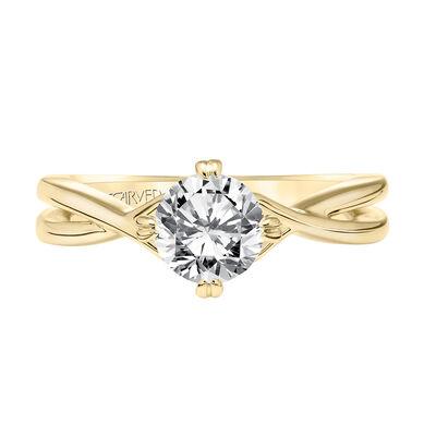 ArtCarved Split Semi-Mount Engagement Ring 14K