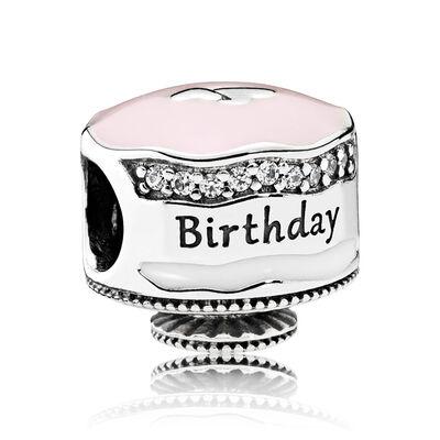 Pandora Happy Birthday Cake, Enamel & CZ Charm