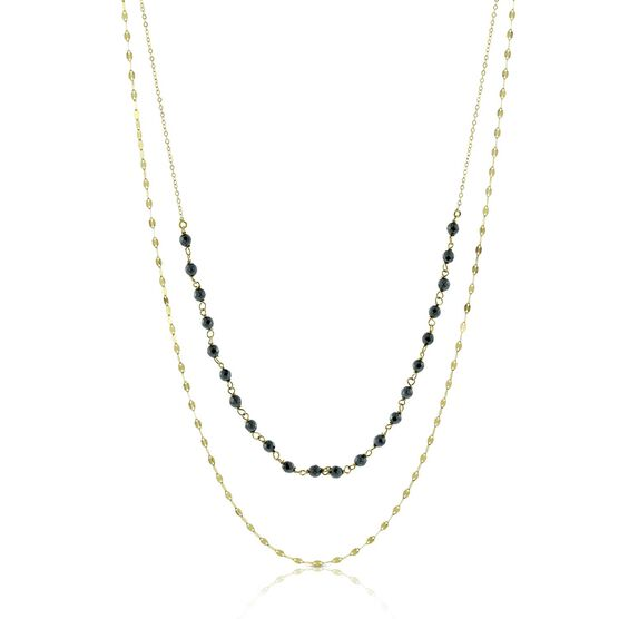 Lisa Bridge Hematite Necklace 14K
