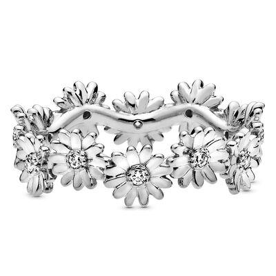 Pandora Sparkling Daisy Flower Crown CZ Ring