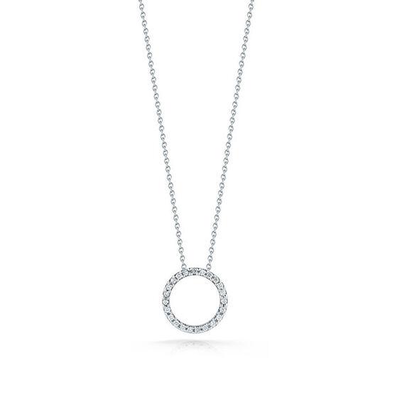 Roberto Coin Diamond Circle Pendant 18K
