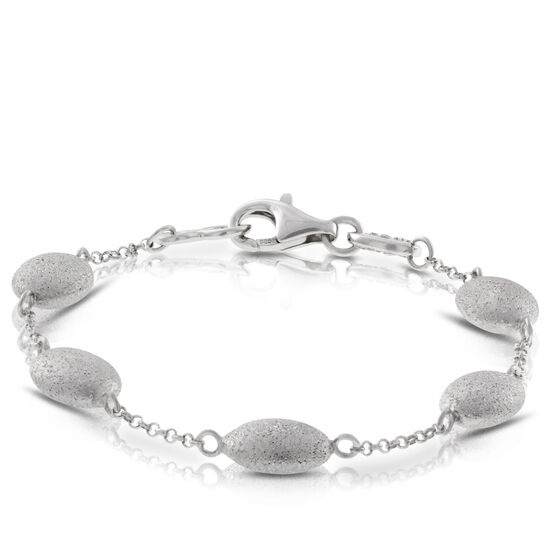 Pebble Station Bracelet in Sterling Silver