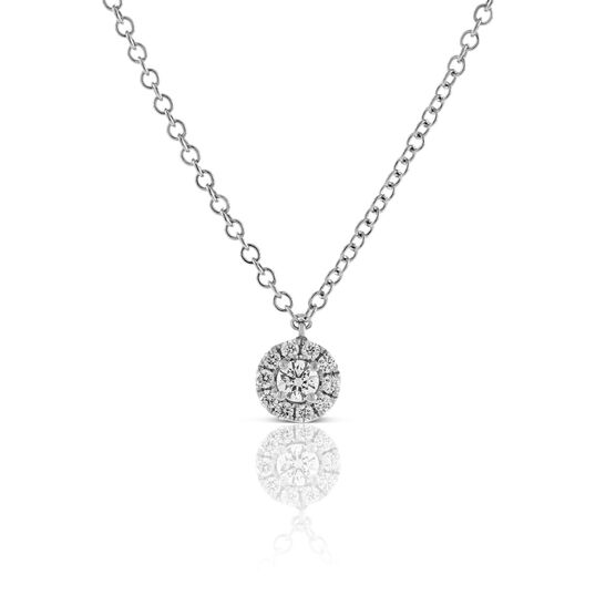 Forevermark Tribute™ Collection Diamond Halo Pendant  18K