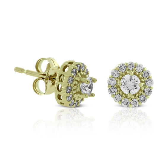 Ikuma Canadian Diamond Cluster Earrings 14K