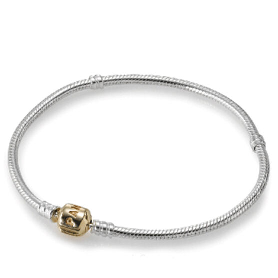Pandora Bracelet, Silver with 14K Clasp