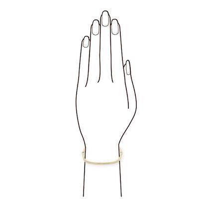 Roberto Coin Designer Gold Rectangular Bangle Bracelet 18K