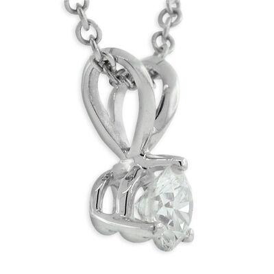 Diamond Pendant 14K, 1/5 ct.