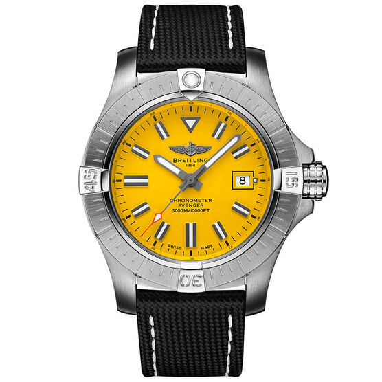 Breitling Avenger Automatic 45 Seawolf Yellow Leather Watch, 45mm