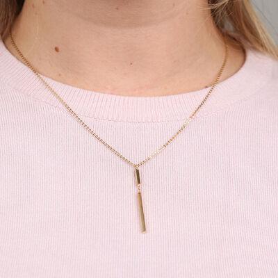 Double Bar Necklace 14K