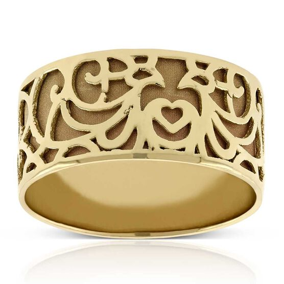 Toscano Carved Ring 14K, Size 7