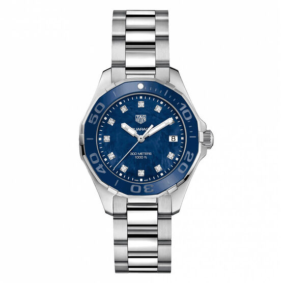 TAG Heuer Aquaracer Quartz Ladies Blue Steel Watch