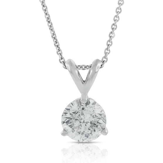 Diamond Solitaire Pendant 14K, 1 ct.
