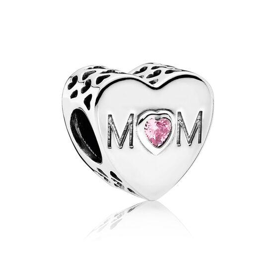PANDORA 'Mother's Heart' CZ Charm