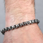 Ribbed Chain Bracelet in Stainless Steel