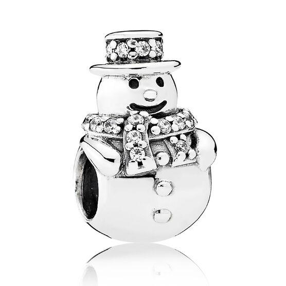 PANDORA Snowman Charm, Clear CZ