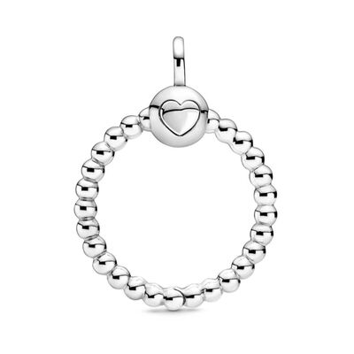 Pandora Moments Small Beaded O Pendant