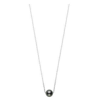 Mikimoto Cultured Black South Sea Pearl Necklace 18K