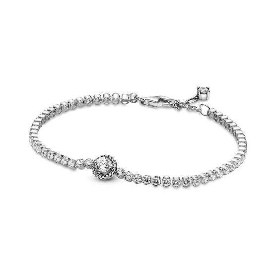 Pandora Sparkling CZ Halo Tennis Bracelet