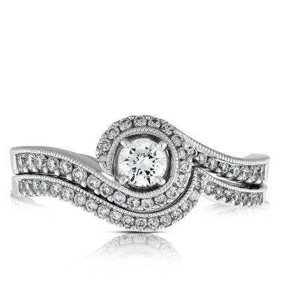 Diamond Swirl Bridal Set 14K