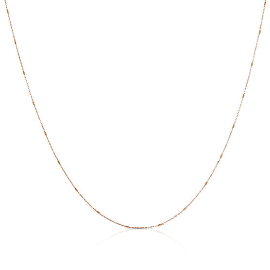 Rose Gold Small Rolo Bar Chain 14K