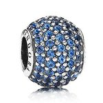 PANDORA Blue Pavé Lights Charm