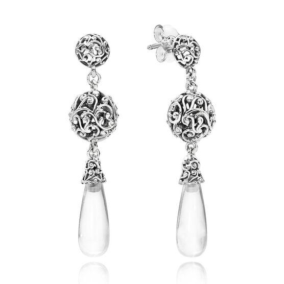 PANDORA Regal Droplets CZ Earrings