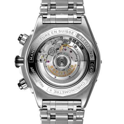 Breitling Super Chronomat B01 44 Black Steel Watch, 44mm