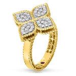 Roberto Coin Princess Flower Diamond Ring 18K
