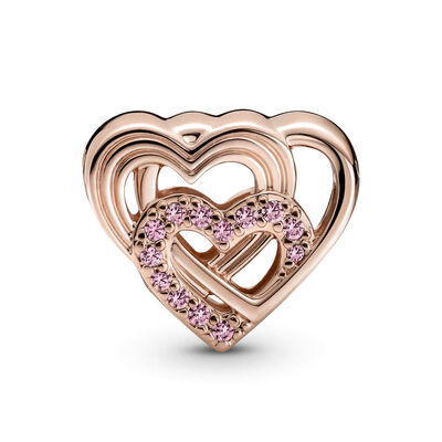 Pandora Intertwined Love Hearts CZ Charm