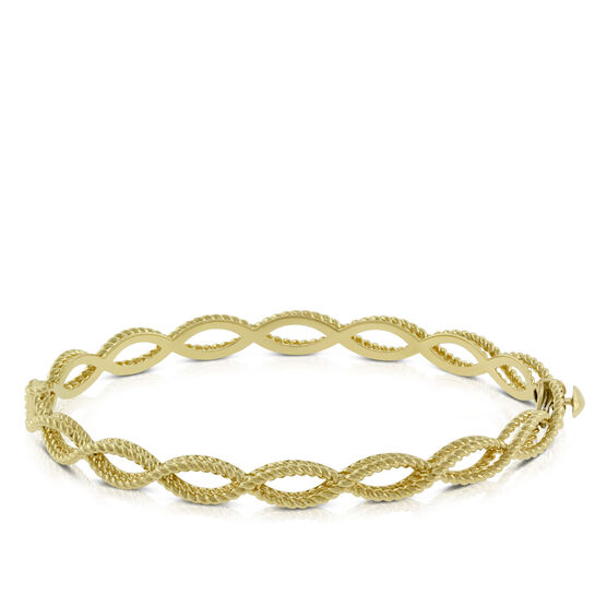 Roberto Coin New Barocco 1-Row Bangle 18K
