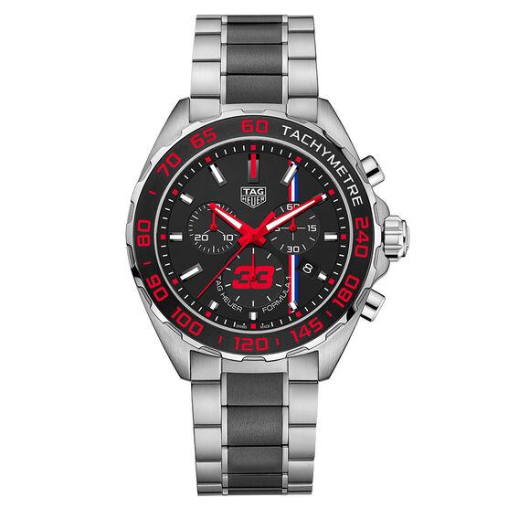 TAG Heuer Formula 1 Max Verstappen Special Edition Quartz Chrono Watch 43mm