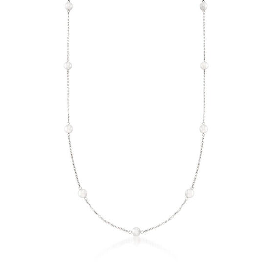 "Mikimoto Akoya Cultured Pearl Necklace, A+, 32"", 18K"