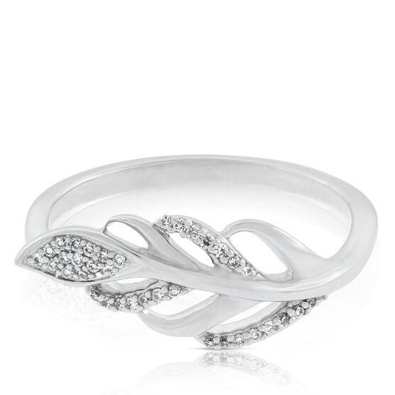 Diamond Leaf Ring 14K