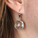 Lisa Bridge Cushion Cut Green Quartz Dangle Earrings