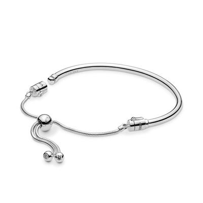 Pandora Sliding Bangle CZ Bracelet