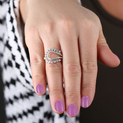 Open Curve Diamond Ring 14K