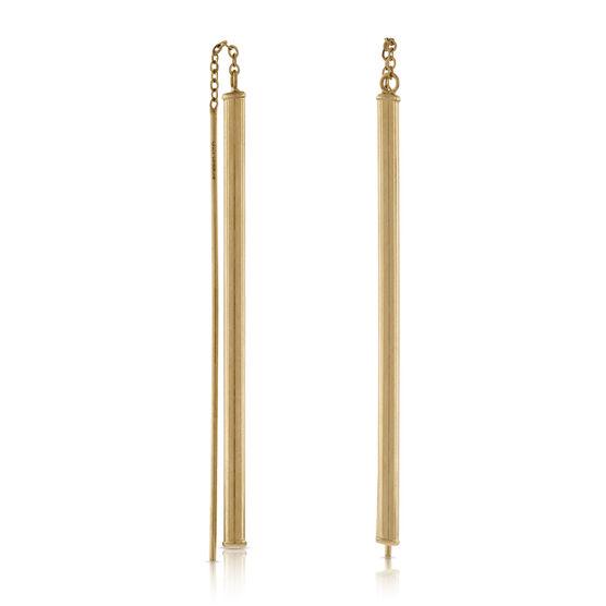 Linear Threader Earrings in Yellow Gold 14K