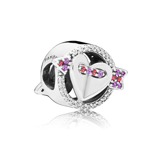 PANDORA Sparkling Arrow & Heart CZ & Crystal Charm