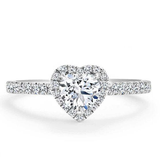 Forevermark Black Label 1/2 ct. Heart Shape Diamond Halo Engagement Ring 18K