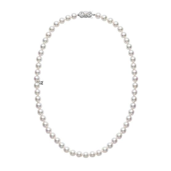 "Mikimoto Akoya Cultured Pearl Strand Necklace A, 18"", 18K"