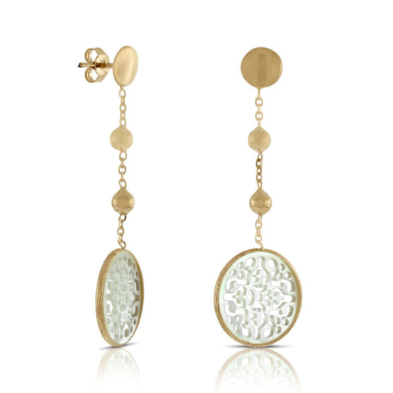 Rose Gold Toscano Mother of Pearl Earrings 14K
