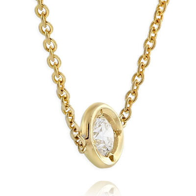 Roberto Coin Diamonds by the Inch 1-Station Diamond Necklace 18K