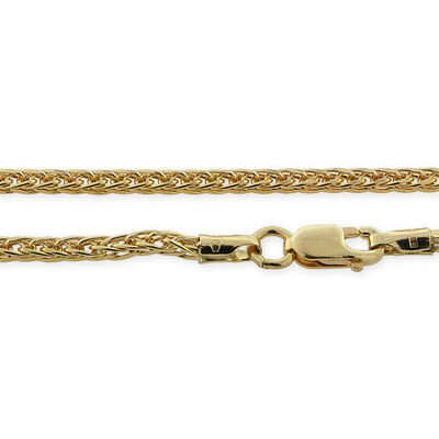 "Diamond Cut Spiga Chain 14K, 18"""