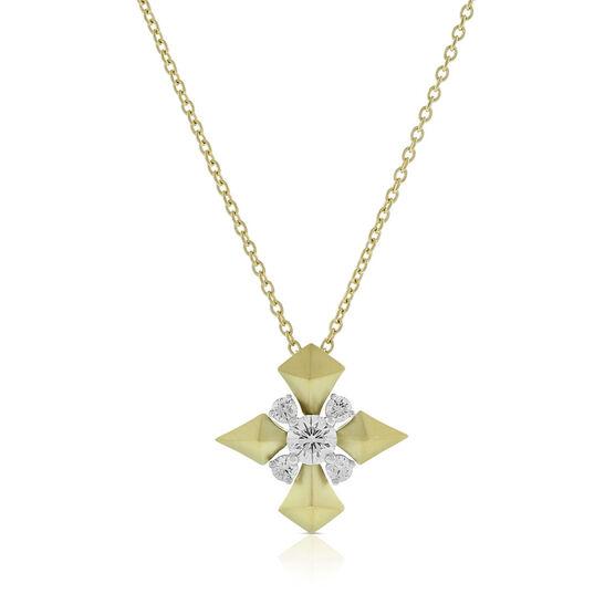 Jade Trau for Signature Forevermark Diamond Cluster Sheild Necklace 18K