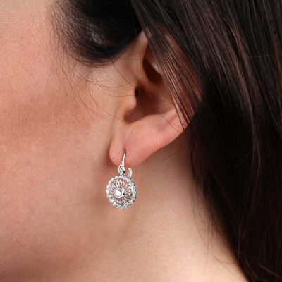 Signature Forevermark Circle Diamond Earrings 18K