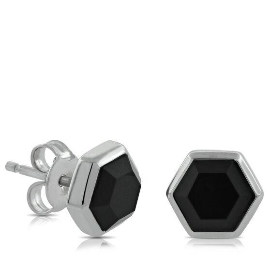 Lisa Bridge Onyx Stud Earrings
