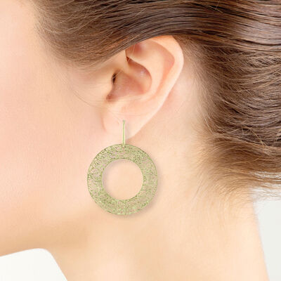 Toscano Donut Hoop Earring 14K
