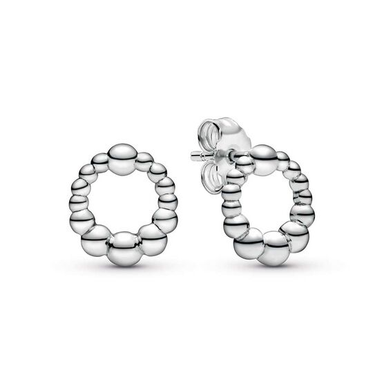 Pandora Purely Pandora Beaded Circle Stud Earrings